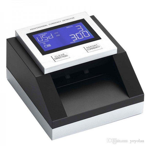 Banknotenprüfer EC350 USD/EUR/GBP/CHF mit LCD Display