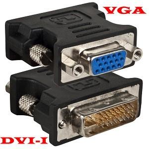 DVI-I male / VGA female Adapter