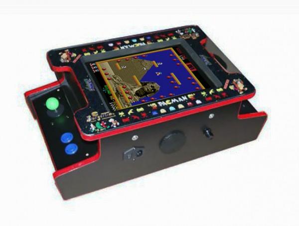 """Mini Videotisch mit 15"""" Monitor, vertikal, 412 Spiele"""
