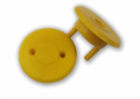 Abdeckung Kugellager, gelb