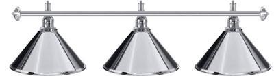 Billard Lampen - kegelfoermig, Chrom