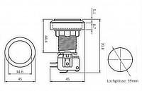 BLC Button 45mm weiss