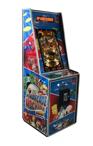 """PinArcade Flipper & Arcade in einem Automat, 32"""" TFT vertikal, 1169 Spiele"""