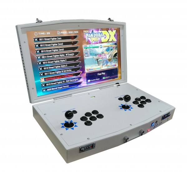 """Videokoffer 24"""" HD Monitor, horizontal, mit Pandora DX 3000 Spiele"""