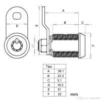 Automatenschloss SBS-2 17mm