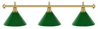 Billard Lampen - kegelförmig, gruen Kunststoff