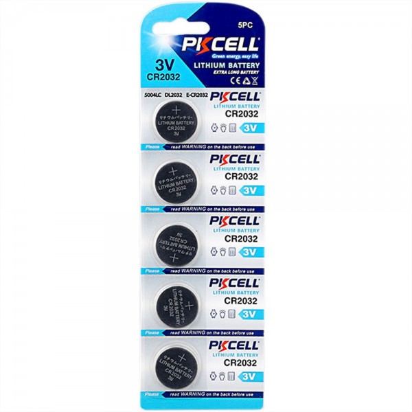 CR2032 Lithium Batterien (Blister mit 5 Stück)