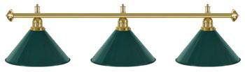 Billard Lampen - kegelförmig, gruen