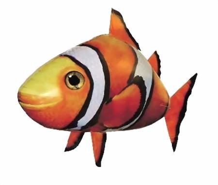 """Fliegender Fisch """"Clownfisch"""" mit Fernsteuerung"""
